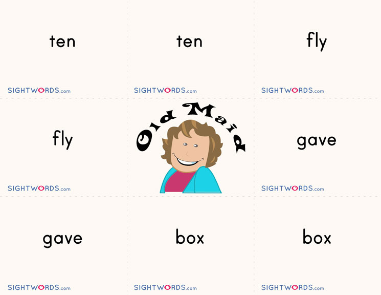 Sight Words Old Maid
