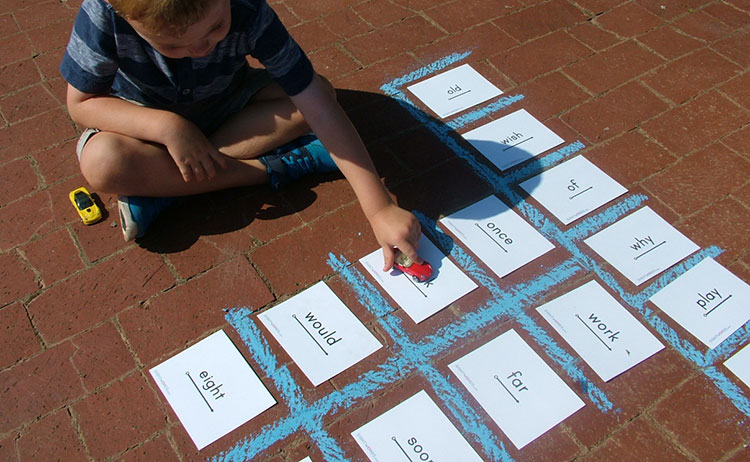 sight words parking lot