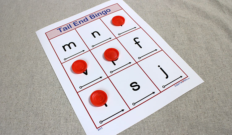 H11 tail end bingo sight words teach your child to read h11 tail end bingo spiritdancerdesigns Choice Image