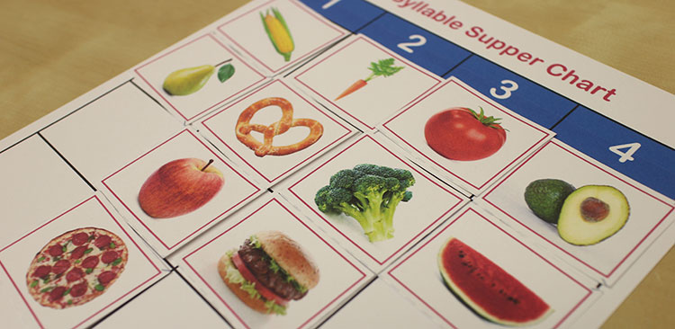syllable supper chart